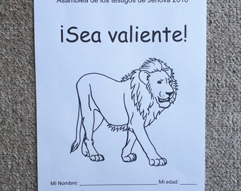 SPANISH Asamblea de los testigos de Jehová 2018     ¡Sea valiente! Español 6-13yo Be Courageous JW Regional Convention