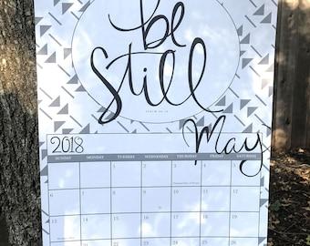 SALE! 2018 WALL CALENDAR | Bible Verse and Quote Calendar | Poster Wall Calendar | 12x18