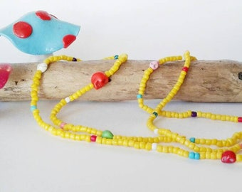 Mama and me bracelets/Boho bracelets/yellow beads/Frida/skull beads/mini skull bracelet/wrap bracelet/punk rock mom/boho baby boho mama