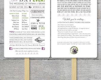 Beach Wedding Fan, Beach Wedding,  Best Day Ever, Order of Service Fan, Destination Wedding, Wedding Program Fans, Wedding Program