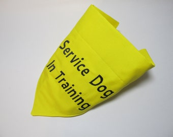 Service Dog In Training Dog Bandana - Over the Collar Style - Makes a Great Gift