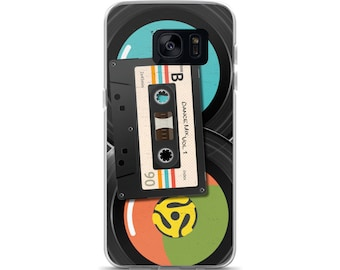Retro Mix Tape and 45s Samsung Case