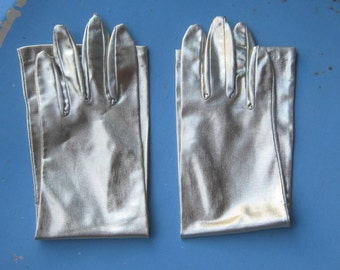 Pair of Long Gold Vintage Gloves; XS-Small Opera/Diva/Burlesque Gloves; Retro Event Gloves; U.S. Shipping Included