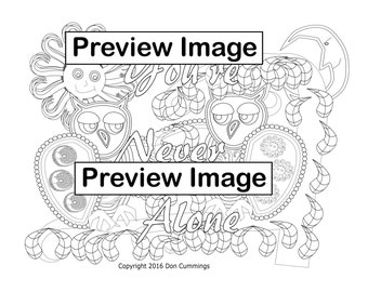 Be Yourself-Positive Affirmation Coloring Page-Adult Coloring