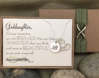 First Communion Gift for GODDAUGHTER Baptism Gift for Goddaughter Necklace for Goddaughter Gift - Confirmation gift for Goddaughter Birthday