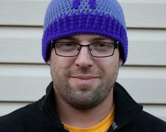 SALE - Hawkeye inspired crochet beanie hat