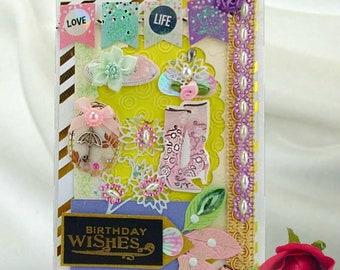 Little girl gift. Cards for kids. Flower girl birthday. My princess birthday. Grandchildren gifts. Baby girl gift. Card for daughter.