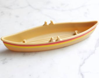 Vintage 1979 Buddy L Canoe with Rainbow Stripes | 1970s Rare Replacement