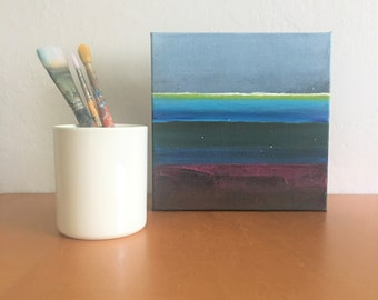 Striped Abstract Painting - Small Works - 17.001