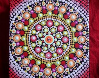 Dotillism art - Love Mandala