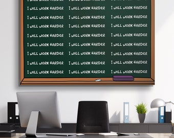 Canvas Wall Art- I Will Work Harder  by IKONICK