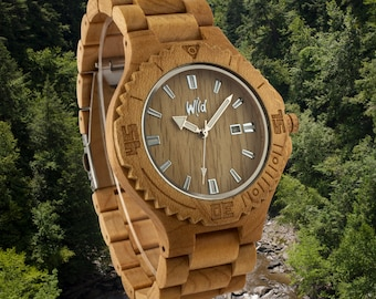 FREE Engraving, Wood Watch,Fathers Day Gift, Boyfriend Gift, Mens watch, Groomsmen gift, Husband Gift, Anniversary Gift, woman gift, DR215