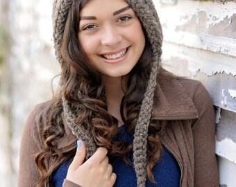 Crochet Pixie Hat for Women / Women's Pixie Hat / Women's Fashion / Womens Hat / Gnome Hat / Fall Fashion / Crochet Hood / Mother's Day Gift