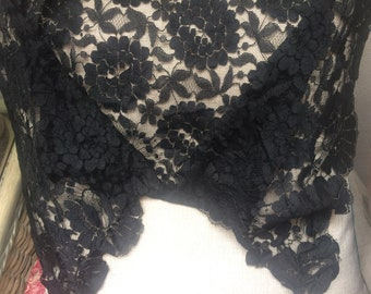 Vintage Black lace shoulder wrap