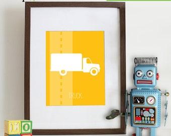 Transportation Prints, Nursery Print, Automobile Print, Truck Print, vehicle,  Item 009