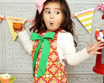 Kids Apron Pattern -- 12m-12 boys/girls Instant Easy To Sew