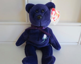 RARE PRINCESS DIANA Beanie Baby - 1st Edition (the real deal) Made in China, pvc Pellets, No Space in Poem, Collectible, Red Star, No Stamp