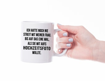 Wedding photo Ceramic mug-mug with saying coffee mug gift idea