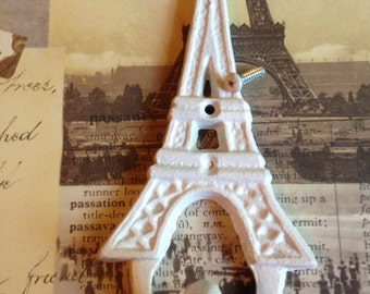 Cast Iron Eiffel Tower Hook Hand Painted