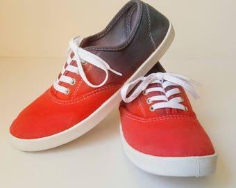 Tie Dye Shoes Size 7 / Canvas shoes / Handmade Shoes / Mens Canvas Shoes / Canvas Shoes Women