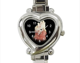 Rose-Breasted Galah Cockatoo Parrot Bird Ladies Women's Heart Italian Watch