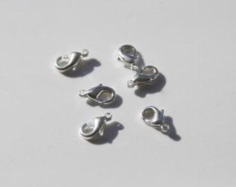 10pcs. Lobster Clasp / 5x10mm / silver tone  VS013
