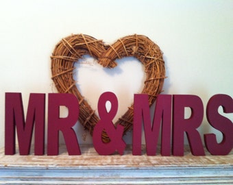 Freestanding Letters - Handpainted - MR & MRS - 15cm - ARIEL - various colours and finishes available