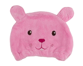 Pink Baby Toddler Microfibre Fast Hair Drying Turban Cap Hair Care Protection