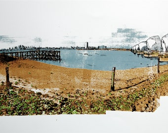 Thames Barrier, London, Limited Edition Screenprint
