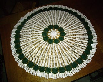 Handmade two-tone green and white centerpiece