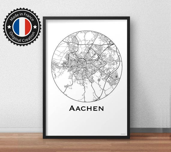 Poster Aachen Germany Deutschland Minimalist Map City Map