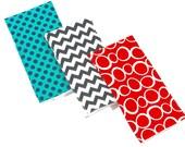 Handmade Burp Cloths with Modern Fabrics