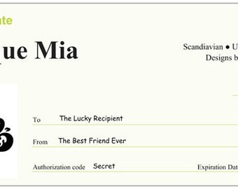 100 Dollar Gift Certificate - by Boutique Mia