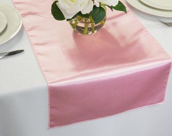 Pink Satin Table Runner | Wedding Table Runners