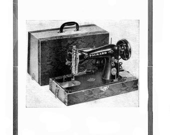 Packard Precision Sewing Machine Instruction Directions Manual Booklet Japanese 15 Clone HA-1