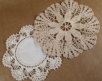 Vintage Handmade Crocheted Doilies