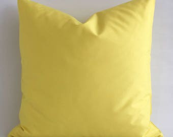 ANY SIZE  Solid Solid Yellow Pillow Cover Yellow Cushion Modern Pillows Cushion Cover Yellow Pillow Yellow Accent Pillow Linen Pillow Cover