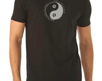 Men's Tai Chi T-Shirt / Men's t-shirt / Tai chi shirt /gift for him/ Father's Day Gift / Gift for men /Martial Arts Gift /Life is Balance