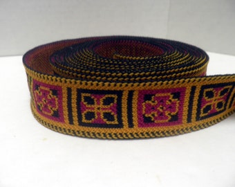 vintage WOVEN TRIM, crafting and sewing