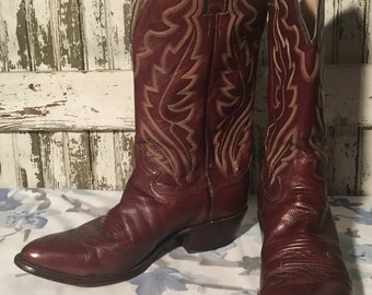 Vintage Brown Justin Cowboy Boots size 10 D