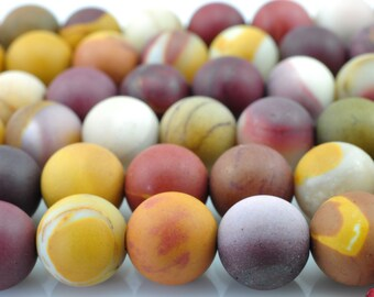 47 pcs of  Natural Mookite Matte  round beads in 8mm