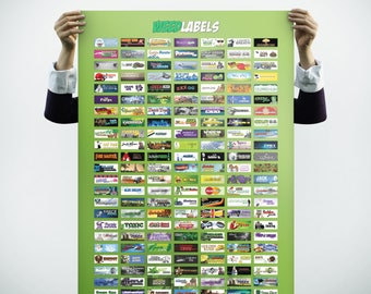 Weed Labels Poster