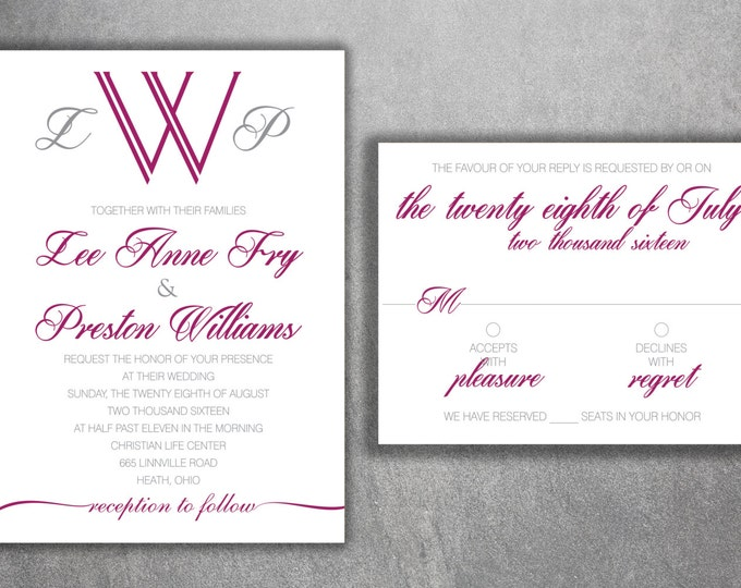 Wedding Invitation, Affordable Wedding Invitations, Cheap Wedding Invitations , Announcements, Simple, Classic, Elegant