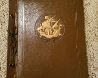 1940-50's Vintage Scrapbook with 70 Unfilled Pages