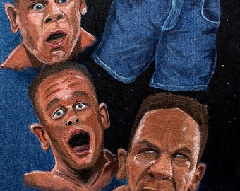 The Passion and Jorts of John Cena | WWE denim canvas painting