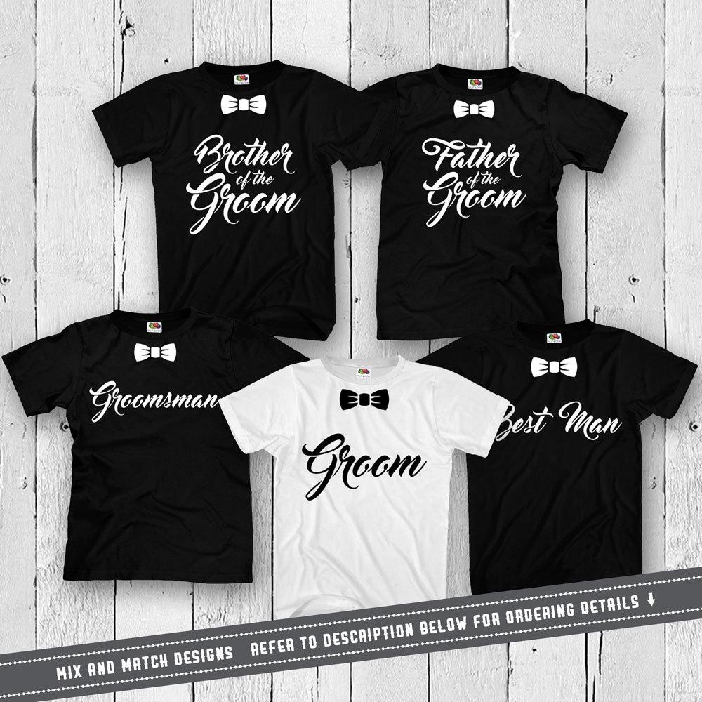 Groom And Groomsmen Shirts Bachelor Party T Shirts Wedding