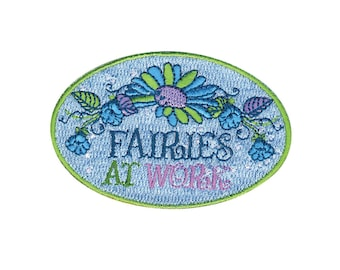Fairies at Work Iron On Applique, Genuine Disney Iron On Patch, Tinkerbell Patch, Fairy Applique, Disney Applique, Fairy Patch, Kids Patch