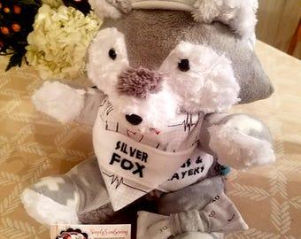 Fox - Personalized Stuffed Animal, Name Embroidered, Plush Keepsake, Get Well Soon, Baby Shower, Birthday, Customizable Plush