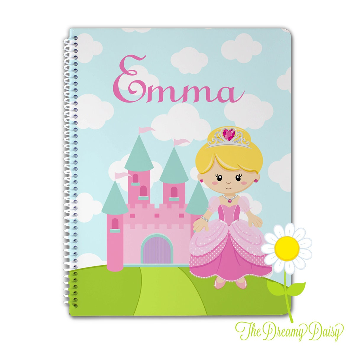 Personalized notebook for kids girls mermaid spiral zoom arubaitofo Image collections
