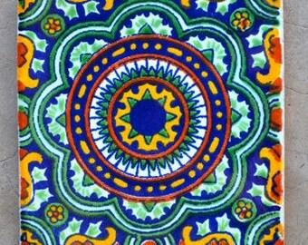 """48 Mexican Talavera Tile  4x4 """""""